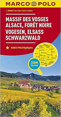 Marco Polo Karte Frankreich Vogesen Elsass Schwarzwald 1 200 000