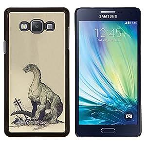 Monstruo Kraken Destrucción- Metal de aluminio y de plástico duro Caja del teléfono - Negro - Samsung Galaxy A7 / SM-A700