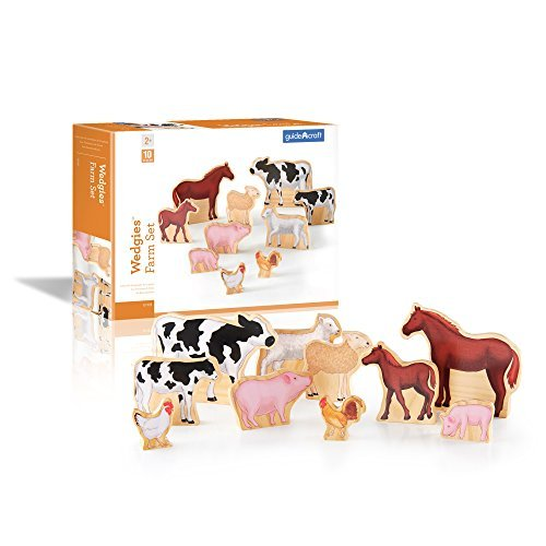 Guidecraft Wedgies Farm Animals Set by Guidecraft