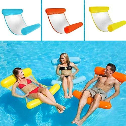 XUWU Adult 130 /× 73 cm PVC aufblasbare schwimmende Betth/ängematte Tragbarer wasserdichter fauler StrandbettPoolLiegestuhl