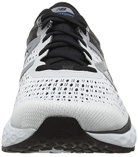 New Balance Men's 1080v9 Fresh Foam Running Shoe, White/Black/deep Ozone Blue, 7 D US by New Balance (Image #4)