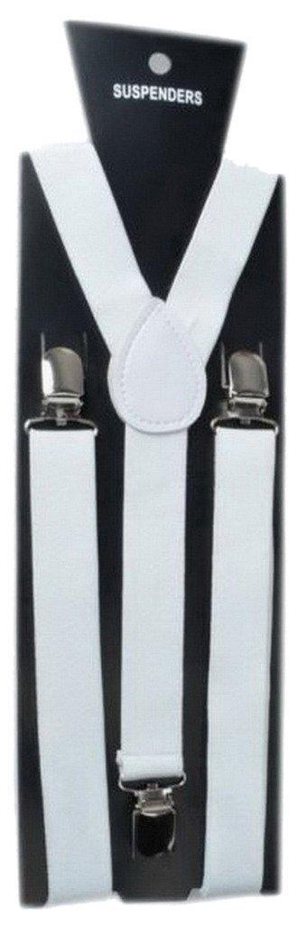 Y-BOA - Bretelle Y élastique–Unisexe– L.100* L.2.5CM - Femme/ Homme Moderne – Réglable - Solide –Casual- Pantalon Jeans (Blanche)