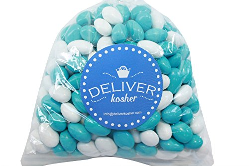 Deliver Kosher Bulk Candy - Light Blue & White Chocolate Almonds - 1lb Bag