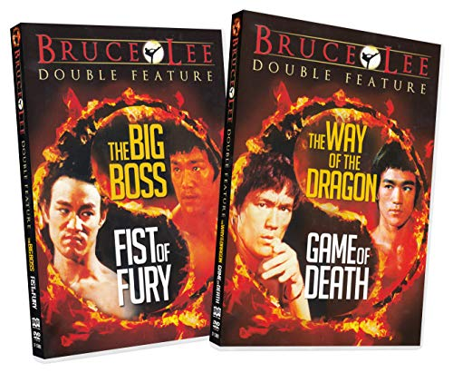 Bruce Lee Double Feature Movie Pack (The Big Boss / Fist of Fury / The Way of the Dragon / Game of Death) (2-Pack)