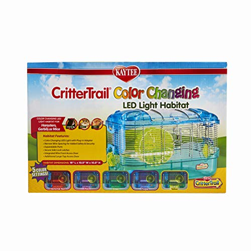 Kaytee CritterTrail LED Color Changing Cage, Habitat for Hamsters, Gerbils Or Mice