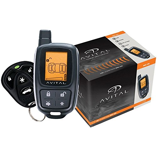Avital 3305L Responder 2-Way Security System with 4-Button LCD Remote by Avital