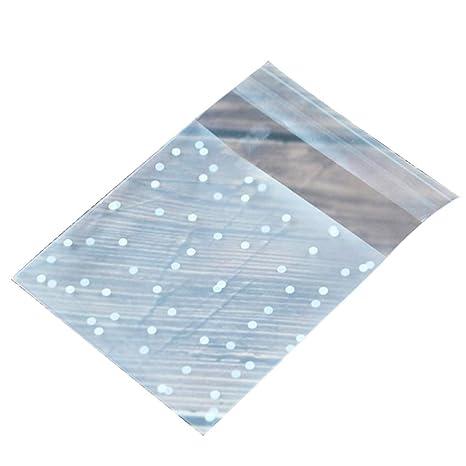 Hosaire 100 Piezas Bolsa de plástico Punto Transparente ...