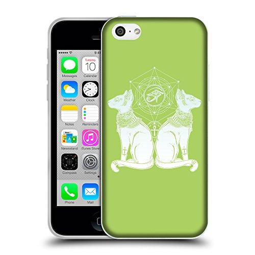 GoGoMobile Coque de Protection TPU Silicone Case pour // Q09490628 Chat égyptien 2 poule // Apple iPhone 5C
