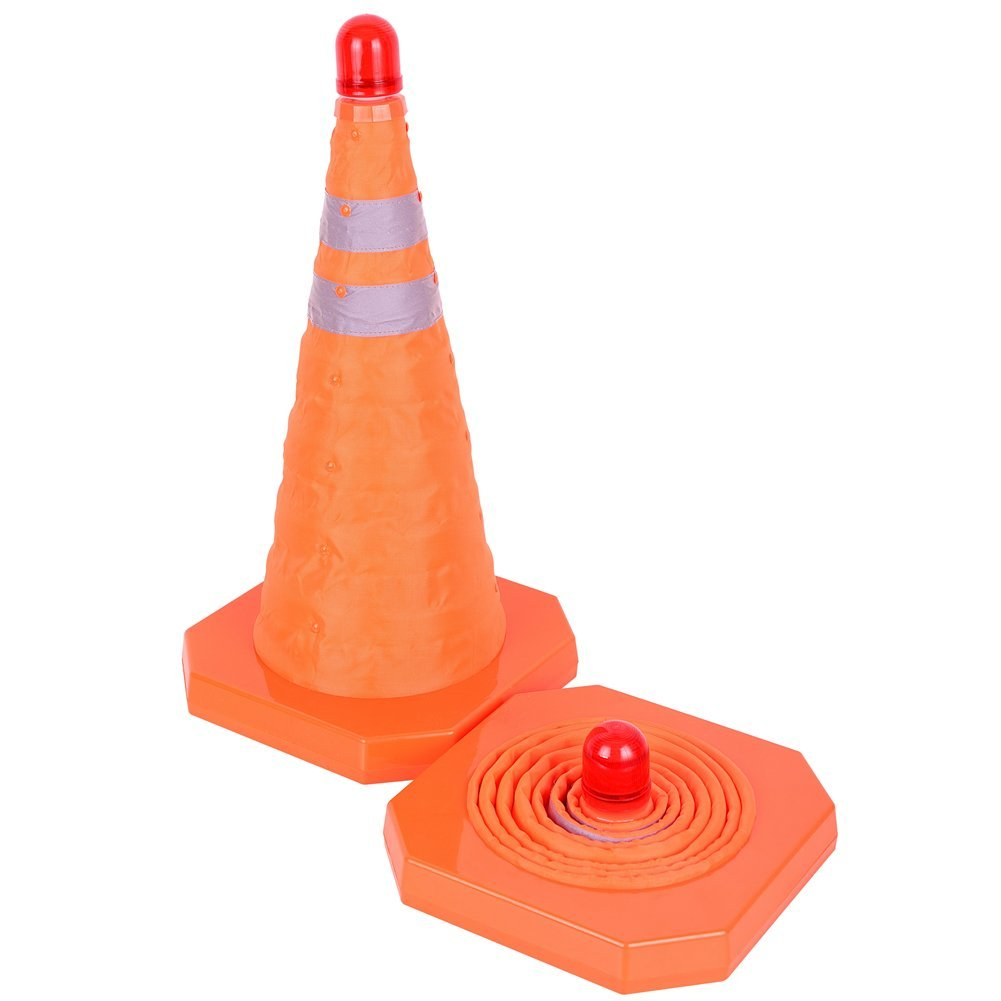 TopGreen Collapsible Traffic Cone 18 Inches Multi Purpose Pop up Reflective Safety Cone