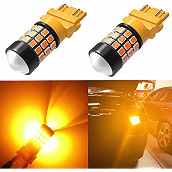 Alla Lighting Super Bright LED 3157 Bulb High Power 2835-SMD 4157 3457 3156 3057 3157 LED Bulb for Turn Signal Blinker Light Bulbs Replacement- Compatible ...