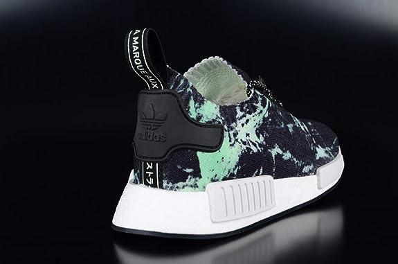 NMD_R1 Primeknit Adidas Sneakers '80s style,Bleu MarineVert