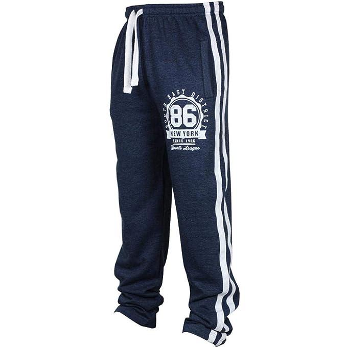 Pantalón Deportivo para Hombre,Pantalones de chándal con Cordones Sueltos Ocasionales de la Aptitud