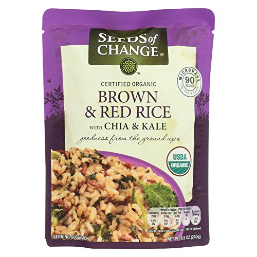 Seeds Of Change, Rice Brown And Red With Chia And Kale, 8.5 Ounce