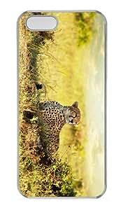 retro case Cheetah Observing PC Transparent Case for iphone 5/5S
