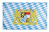 Juvale Bavarian Oktoberfest Flag - 2-Piece Bavaria Flags, German Theme Party Decoration, Polyester with Outdoor Flag Pole Metal Grommets, 59 x 35 Inches