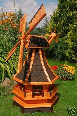 Windmühle,Windmühlen kugelgelagert 1,3m Bitum in dunkel