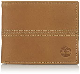 Timberland Men's Passcase Leather Wallet with Key Fob, Tan, One Size