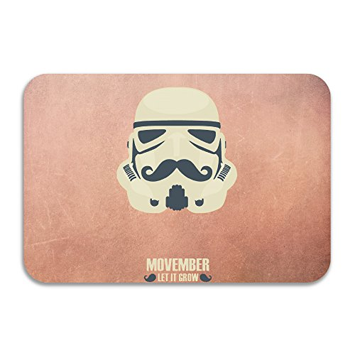 PTGIK No Shave November Let It Grow Star Wars Storm Trooper Non-slip Doormat (November Rain Costume)