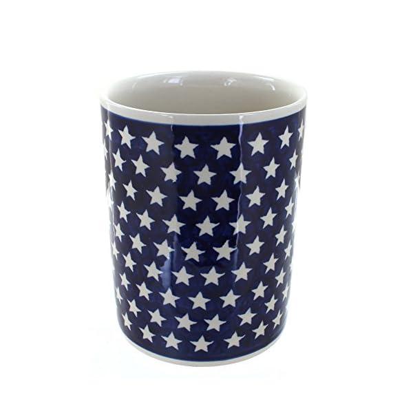Polish Pottery Boleslawiec Utensil Pot, Storage in STAR pattern