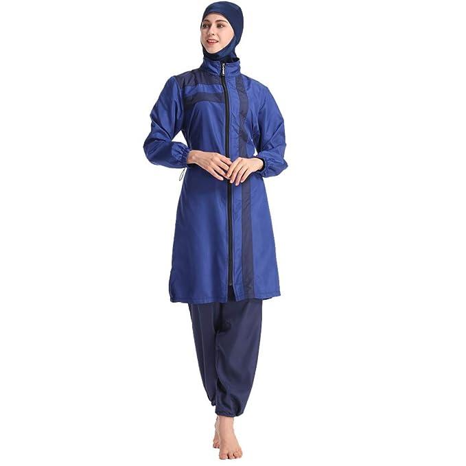 817fb64f5ab Modest Muslim Swimwear Islamic Swimsuit Hijab Swimwear Full Coverage  Swimwear Muslim Swimming Beachwear Swim Suit Blue