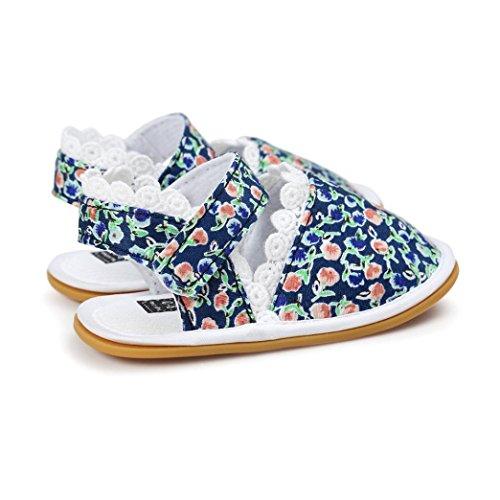 Tefamore Sandalias Zapatos de Recién Nacido Suela Blanda Antideslizante Para Niños Pequeños Bebé Sneakers Primavera y verano D