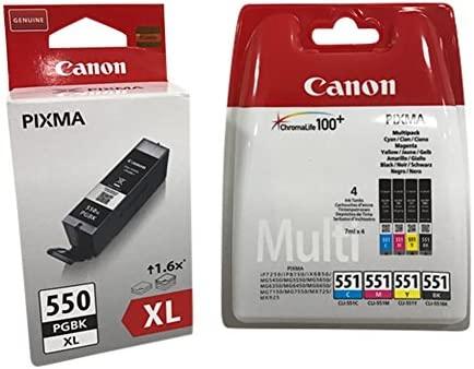 5 Cartuchos de impresora original XL Black + Multipack pequeña (BK ...