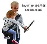 NimNik Baby Sling Carriers Hipseat - Ergonomics Front 2 Back Carrier, Black Bild 6