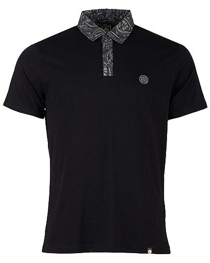 dc32032439c PRETTY GREEN POLO SHIRT ROSLER MENS BLACK TOP  Amazon.co.uk  Clothing