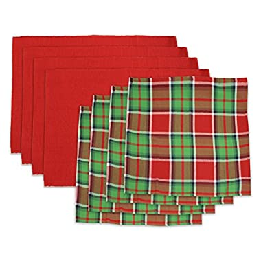 Homewear 8-Pc. Set of Festive Plaid Holiday Napkins and Red Placemats (4 of each)
