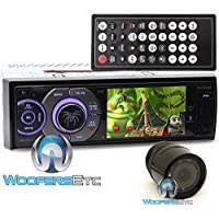 pkg Soundstream VR-345XB In-Dash 1-DIN 3.4 LCD Screen DVD Stereo Receiver Sirius XM Ready XO Vision Backup Camera with Nightvision