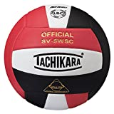 Tachikara Sensi-Tec Composite High Performance Volleyball, Scarlet/White/Black
