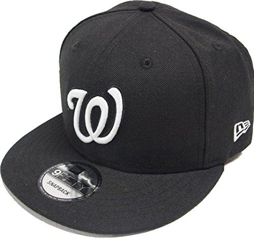 Washington Nationals Black/White SNAPBACK 9Fifty New Era MLB Hat = - Exclusive Snapbacks