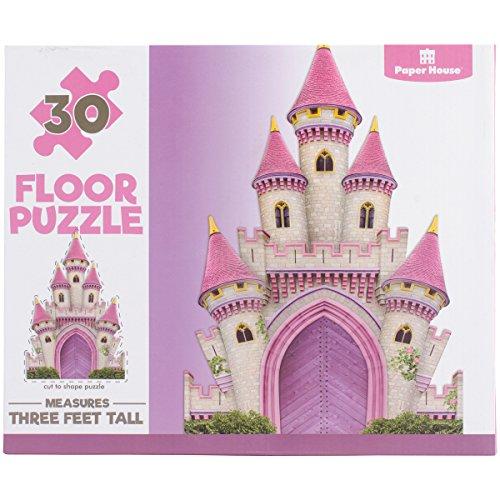Paper House Productions PUZ-4002E Floor Puzzle, Magical Castle Alphabet House Floor Puzzle