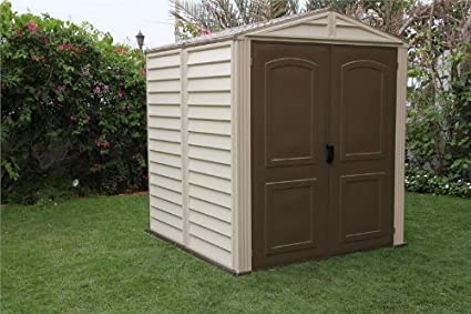 Duramax Woodside 6x6 Vinyl Storage Shed & Amazon.com : Duramax Woodside 6x6 Vinyl Storage Shed : Garden u0026 Outdoor