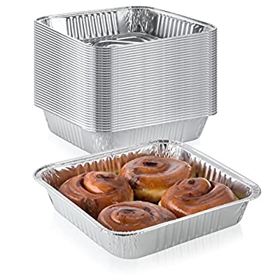 """Pack of 20 Extra-Thick Disposable Aluminum Baking Pans 