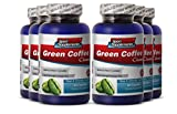 Green Coffee Tablets - Green Coffee Cleanse 400mg - Natural Herbal Green Coffee Cleanse for Increasing Energy Levels and Improving Mood (6 Bottles 360 Capsules)