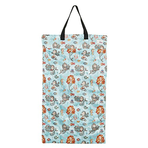 Large Hanging Wet Dry Bag for Cloth Diapers or Laundry (Mermaid)