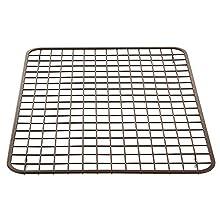 InterDesign Gia Kitchen Sink Protector - Wire Grid Mat – Large, Bronze