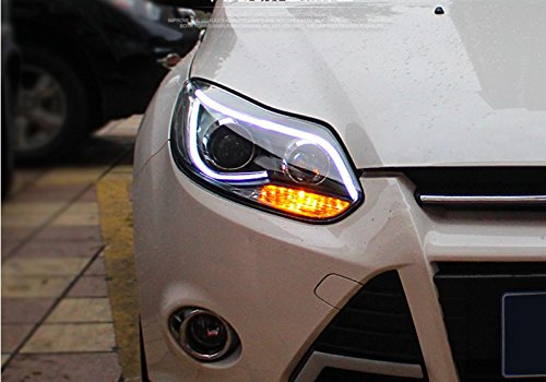 GOWE Car Styling For Ford Focus headlights For 2012 2013 2014 Focus head lamp led DRL front Bi-Xenon Lens Double Beam HID KIT Color Temperature:4300k;Wattage:55w 3