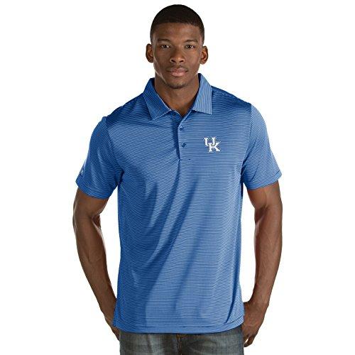 Striped Antigua Shirt Polo - Zokee University of Kentucky Men's Quest Polo Shirt (X-Large)