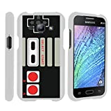 MINITURTLE Case Compatible w/ [Samsung Galaxy J1 Slim case, J1 case ][Snap Shell] Hard Plastic Slim White Snap on case w/ Unique Designs Game Controller
