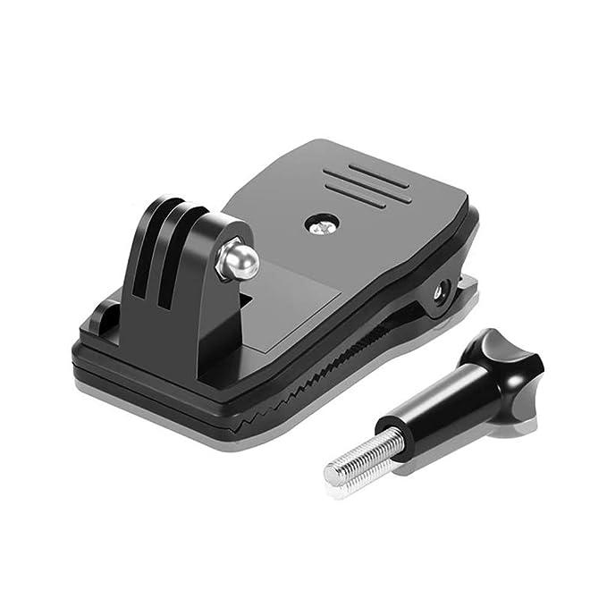 Electomania® 360 Degree Backpack Hat Belt Clip Clamp Mount for GoPro Hero 2/3/3+  Black