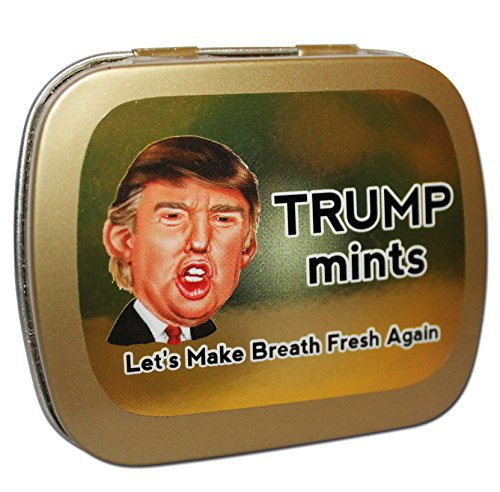 Trump Make Breath Fresh Again Mints – Trump Gag Gifts – Clinton Trump Election 2016 – Donald Trump Gifts – Cinnamon Breath Mints – Funny Mint Tins by Gears ()