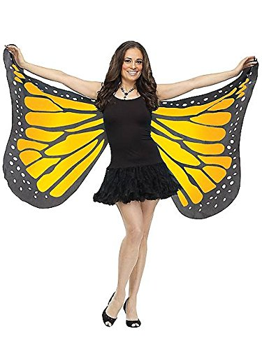 Fun World Women's Adult Soft Butterfly Wings Adult Costume Accessory Accessory, -orange, Standard