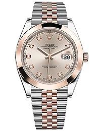 Rolex Datejust 41 Stainless Steel & Everose Gold Jubilee Watch Sundust Diamond Dial