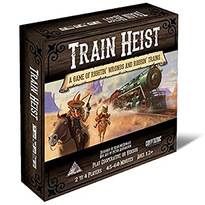 Cryptozoic Entertainment Train Heist Board Game: Toys & Games
