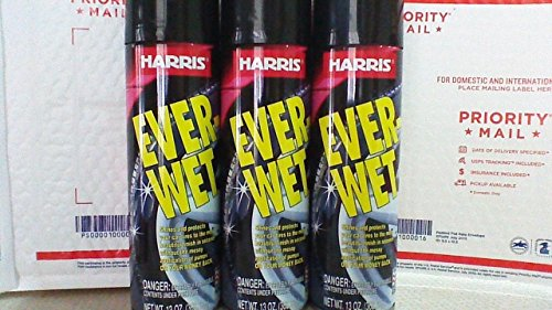 3 Harris Ever-Wet Spray Tire Shine Cans 13oz each Shines and protect.Free ship. (Best Wet Tire Shine)