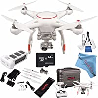 Autel Robotics X-Star Premium Quadcopter with 4K Camera and 3-Axis Gimbal (White) + 64GB microSDXC + Deluxe Cleaning Kit + Fibercloth Bundle