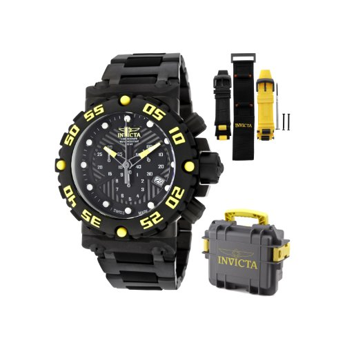 Invicta Men's 10048 Subaqua Nitro Chronograph Black Dial Black Watch