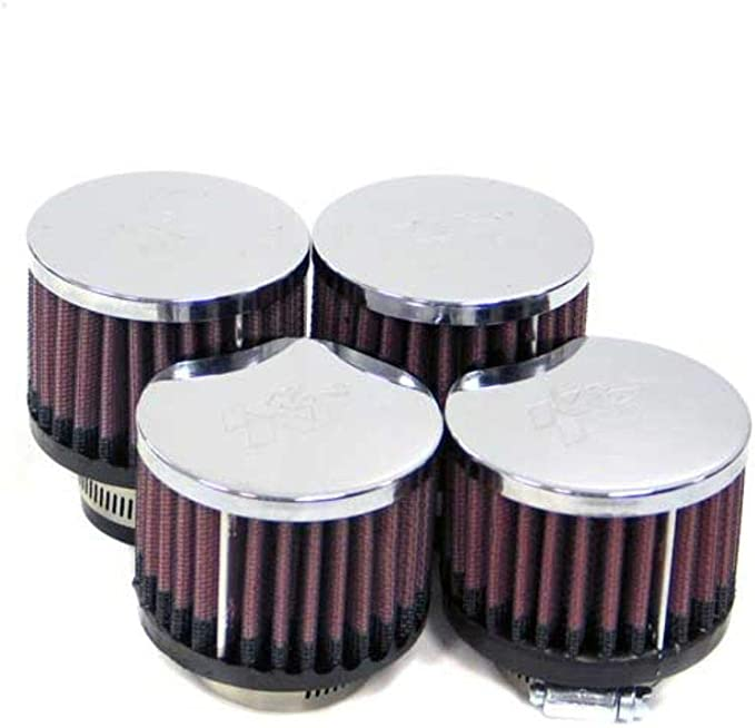 Shape: Round Tapered Washable Filter Height: 4 In Replacement Filter: Flange Diameter: 2.062 In Flange Length: 0.625 In K/&N Universal Clamp-On Air Filter: High Performance Premium RC-1203